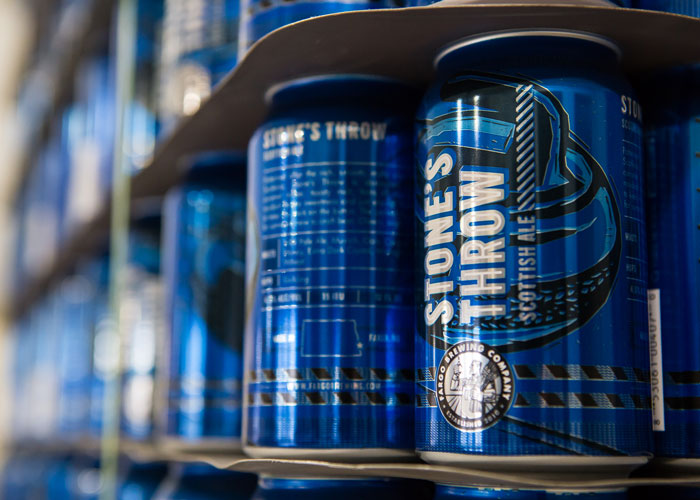 Stone's Throw cans from Fargo Brewing Company