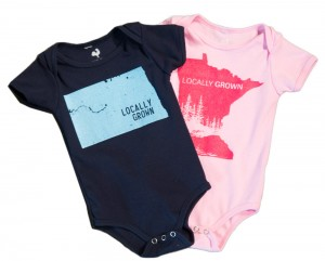 Locally grown baby onesies